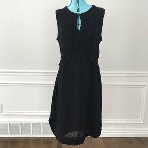 Gypsy 05 black dress crochet keyhole front gauze